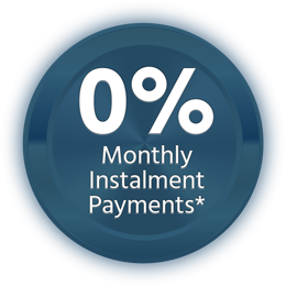 0% monthly instalment plan