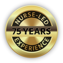 75 years nurse-led experience