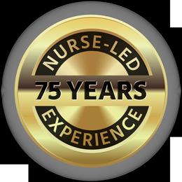 75 years nurse-led experience